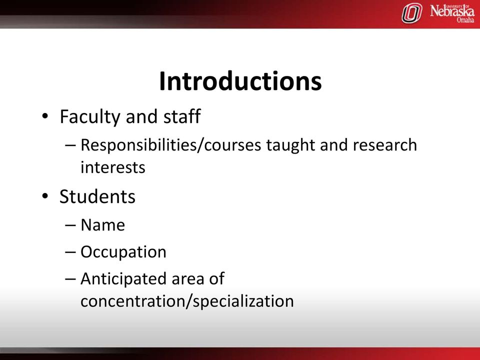 research interests Students Name