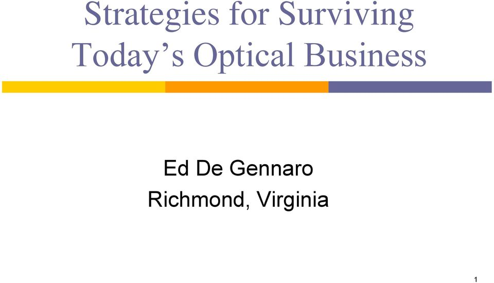 Optical Business Ed