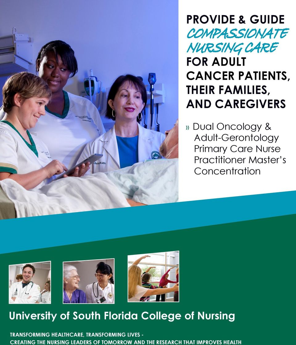 Concentration University of South Florida College of Nursing TRANSFORMING HEALTHCARE,