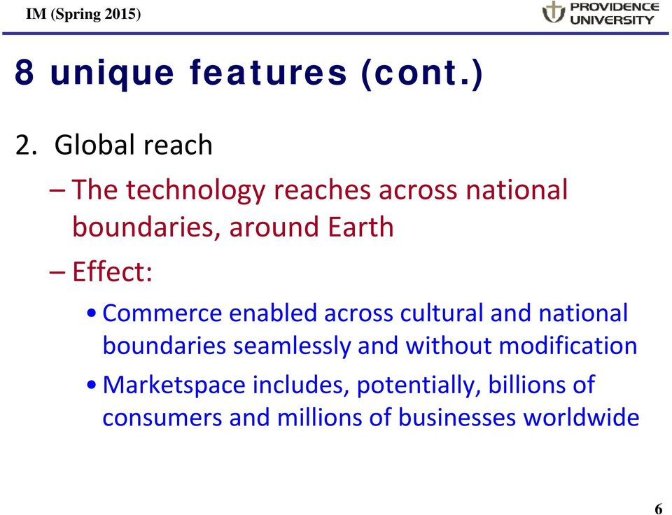 Earth Effect: Commerce enabled across cultural and national boundaries