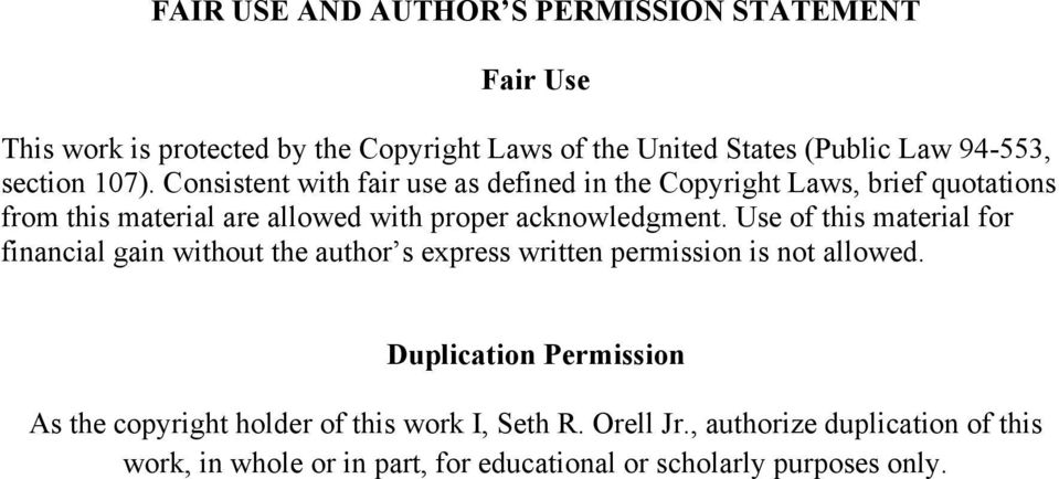 fair use law applied to images in thesis The fair use provisions of us copyright law allow use of copyrighted materials for specific purposes without permission of the copyright holder the law as written is brief and general the law as written is brief and general.