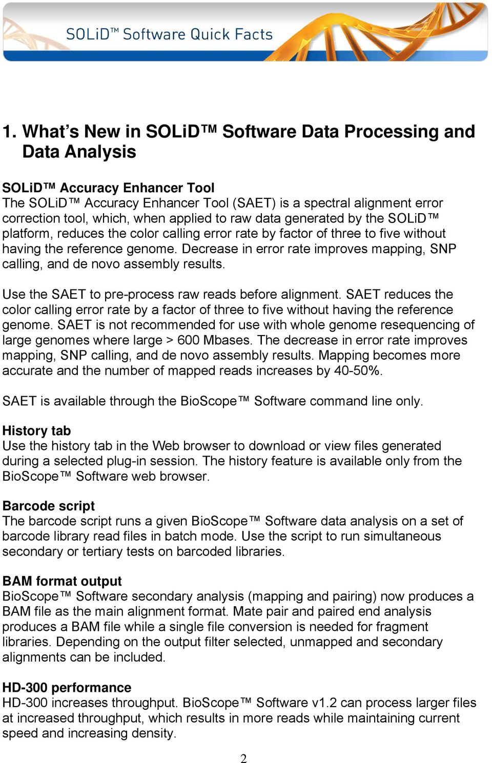 SOLiD Software Quick Facts - PDF