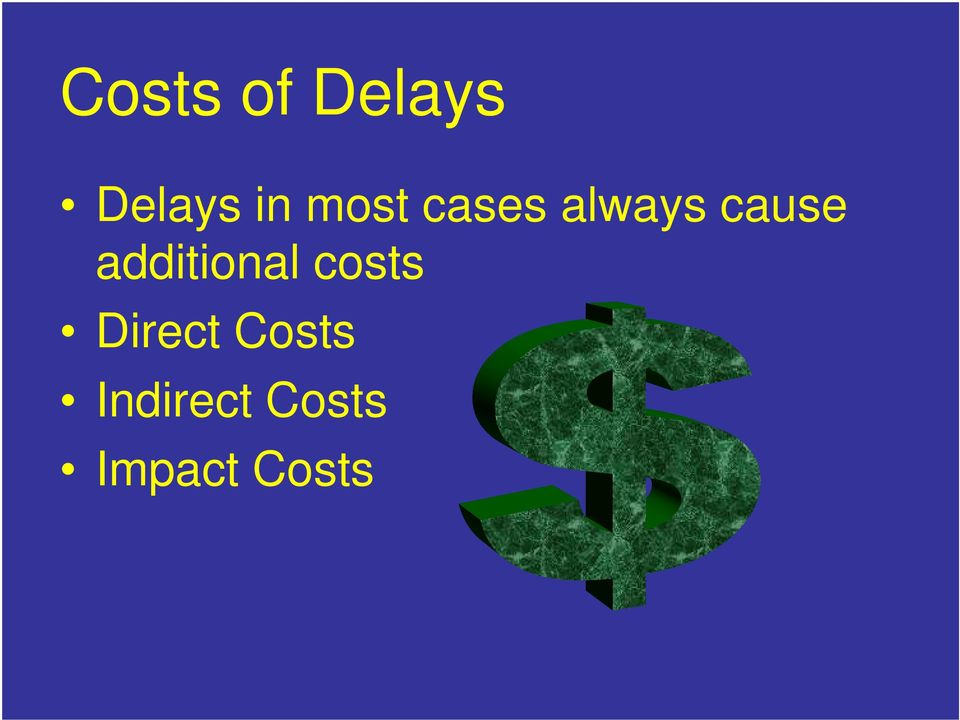 additional costs Direct