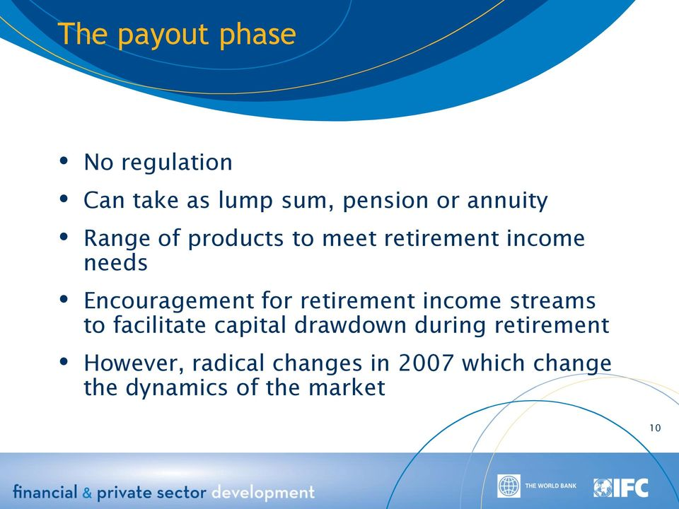 retirement income streams to facilitate capital drawdown during