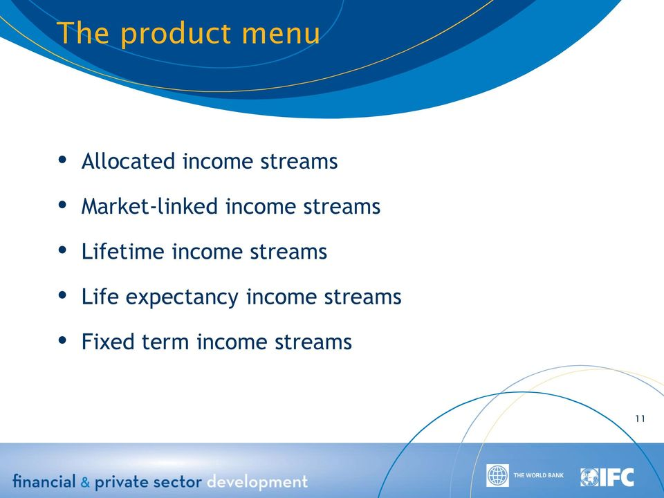 Lifetime income streams Life
