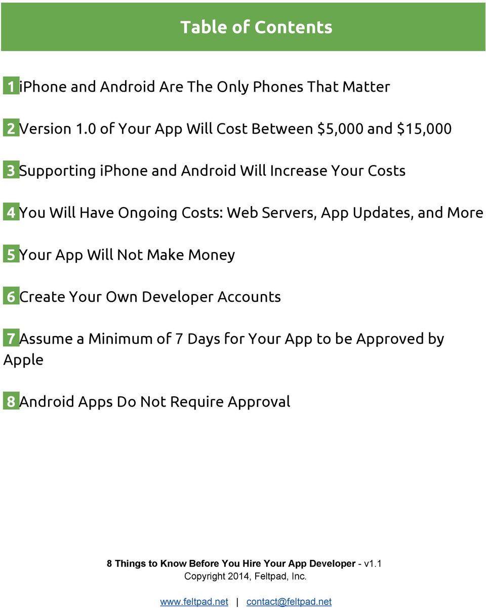 4 You Will Have Ongoing Costs: Web Servers, App Updates, and More 5 Your App Will Not Make Money 6 Create