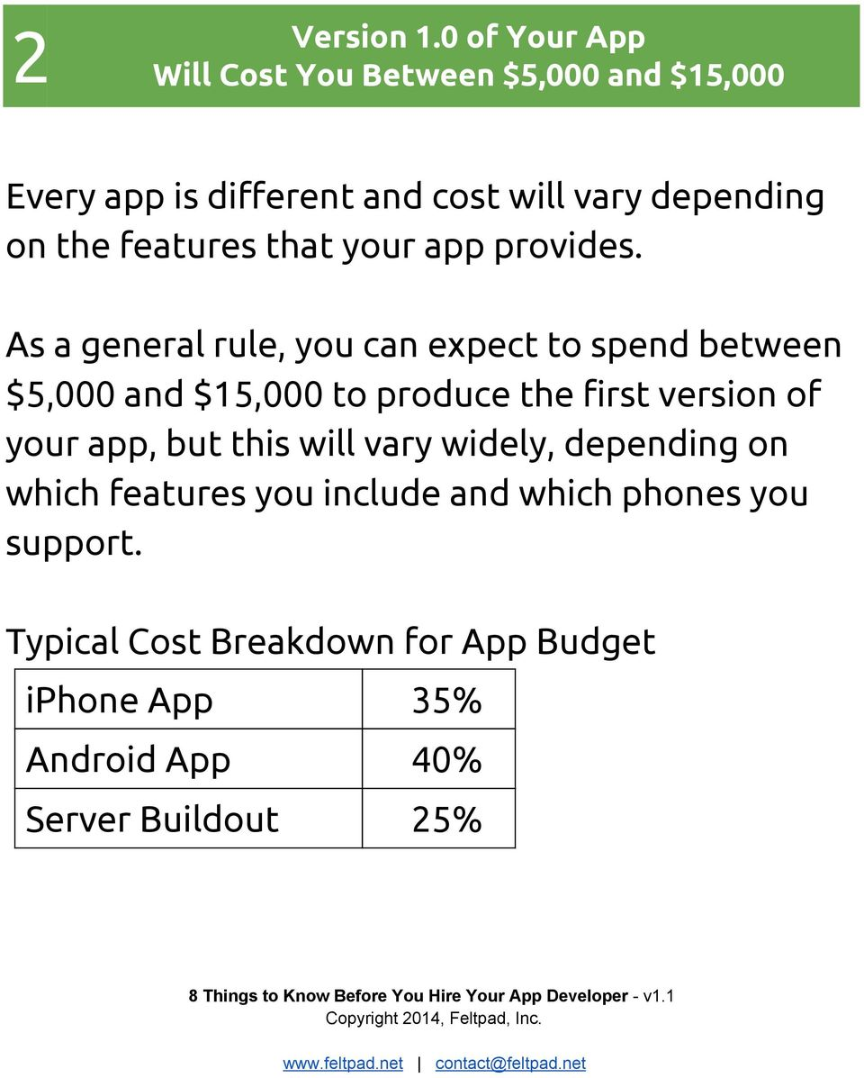 features that your app provides.