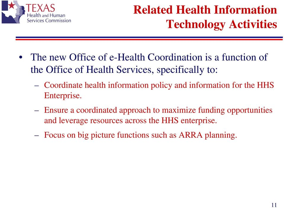 information for the HHS Enterprise.