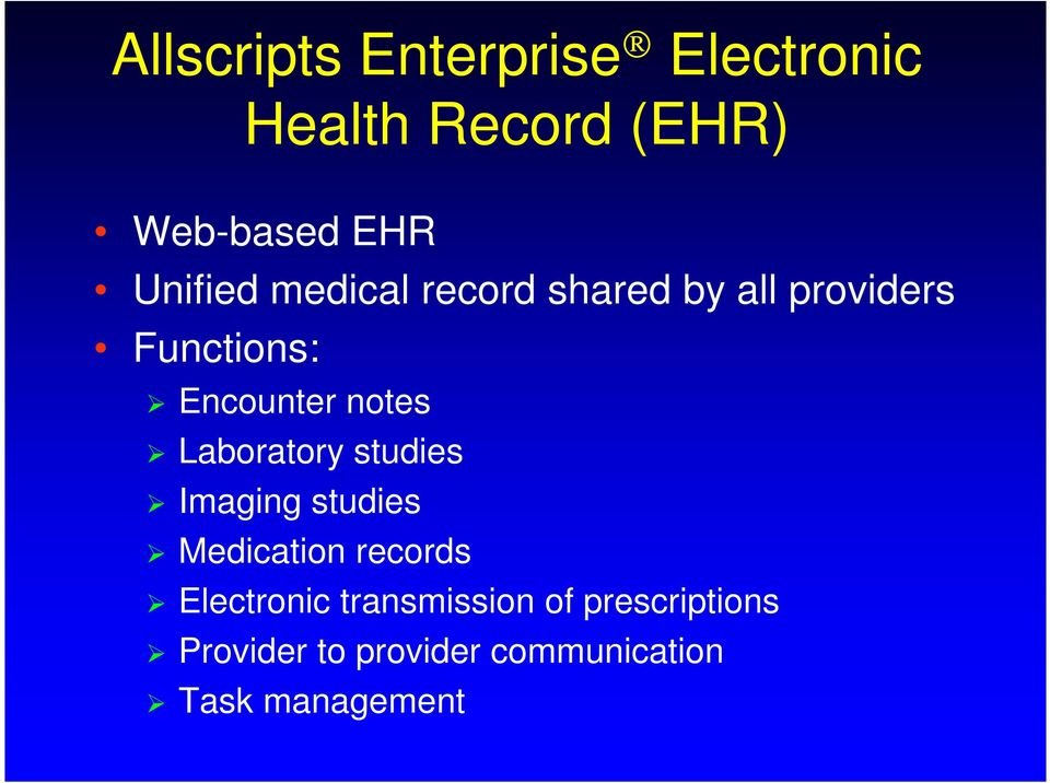 notes Laboratory studies Imaging studies Medication records Electronic