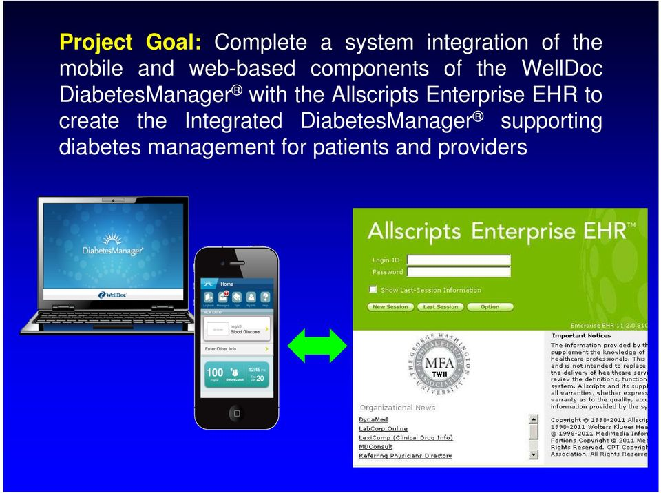 Allscripts Enterprise EHR to create the Integrated