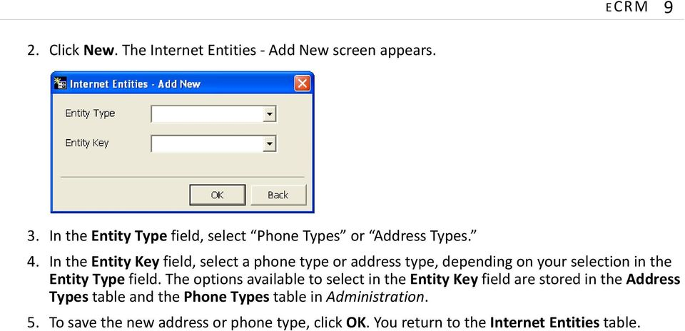 In the Entity Key field, select a phone type or address type, depending on your selection in the Entity Type field.