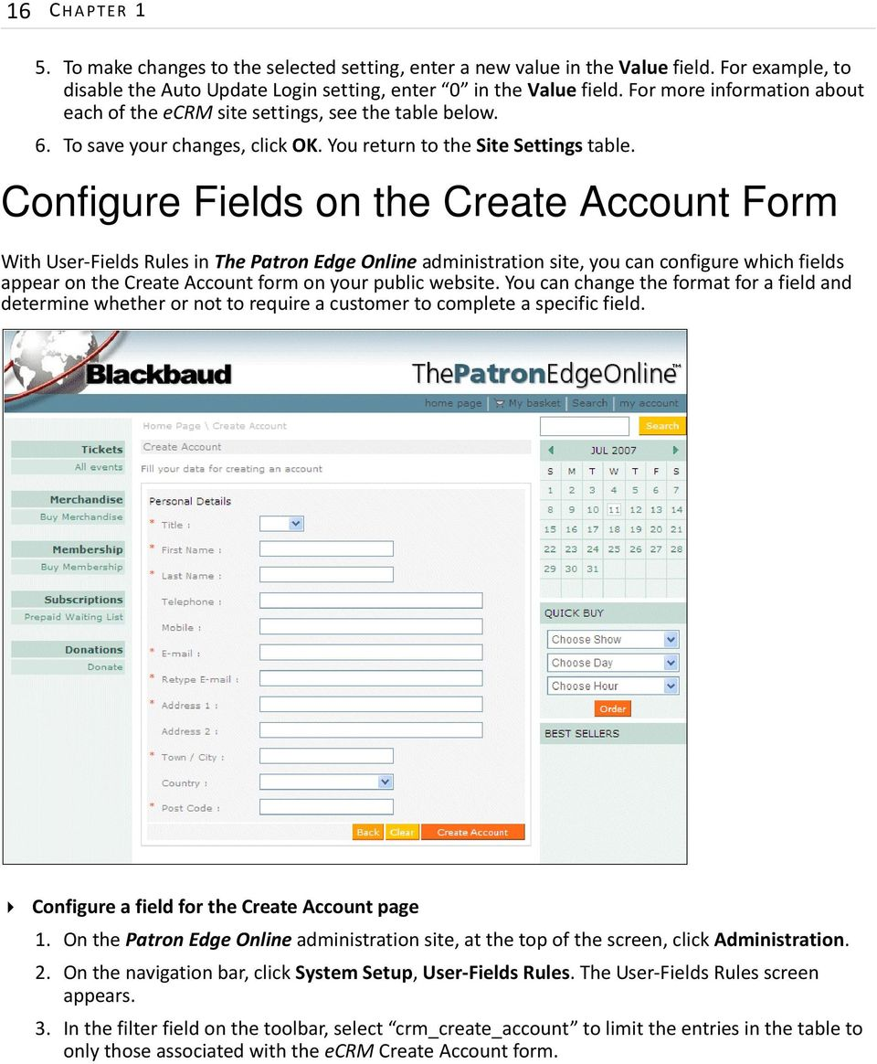 Configure Fields on the Create Account Form With User-Fields Rules in ThePatron Edge Online administration site, you can configure which fields appear on the Create Account form on your public