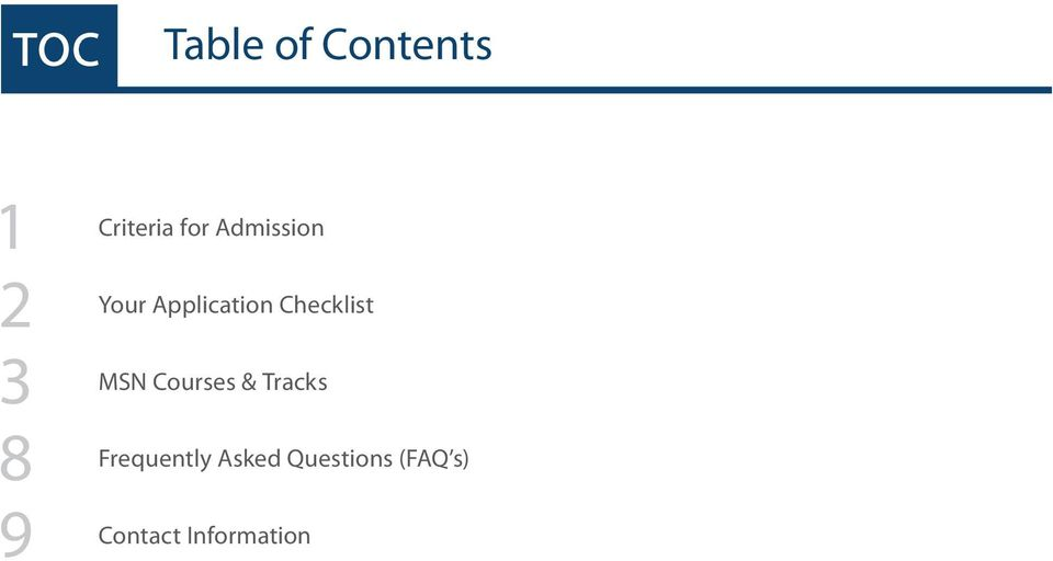 Checklist MSN Courses & Tracks