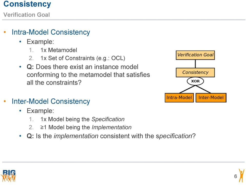 : OCL) Q: Does there exist an instance model conforming to the metamodel that satisfies all the