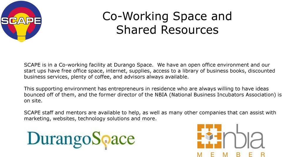 plenty of coffee, and advisors always available.