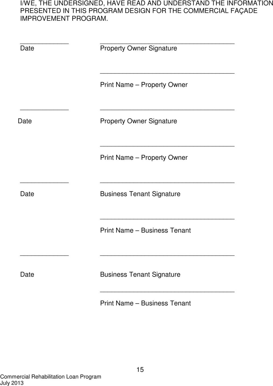 Date Property Owner Signature Print Name Property Owner Date Property Owner Signature Print