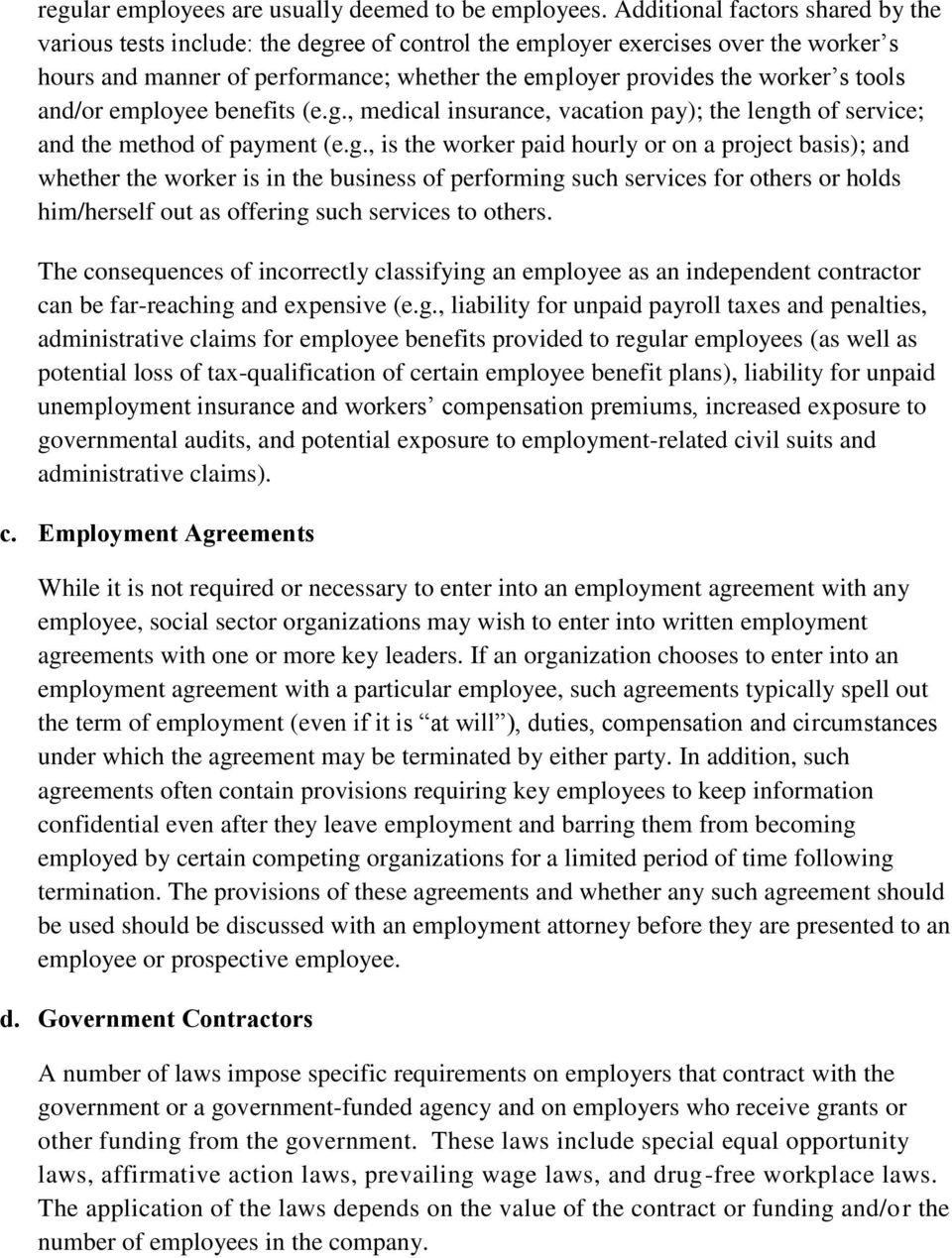 tools and/or employee benefits (e.g.