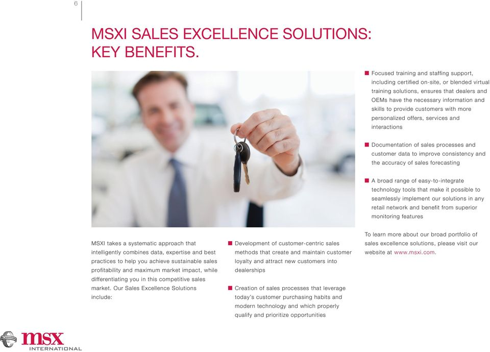 with more personalized offers, services and interactions Documentation of sales processes and customer data to improve consistency and the accuracy of sales forecasting A broad range of