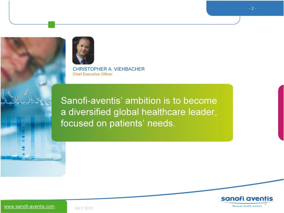 Sanofi-aventis ambition is to become a