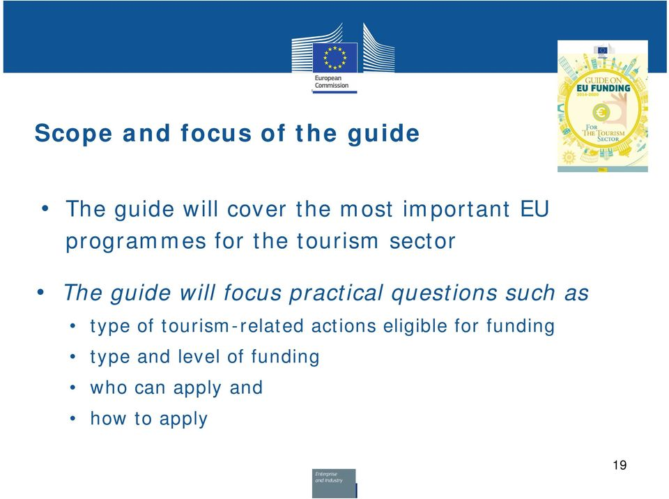 practical questions such as type of tourism-related actions