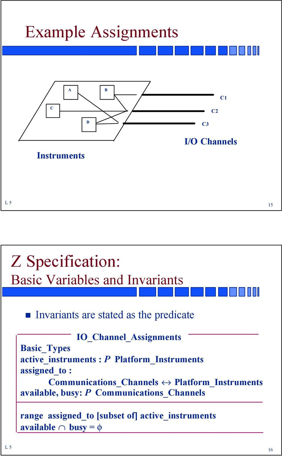 active_instruments : P Platform_Instruments assigned_to : Communications_Channels