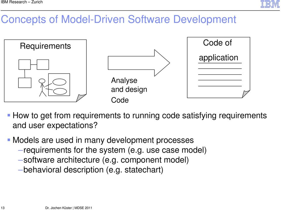 expectations? Models are used in many development processes requirements for the system (e.g.