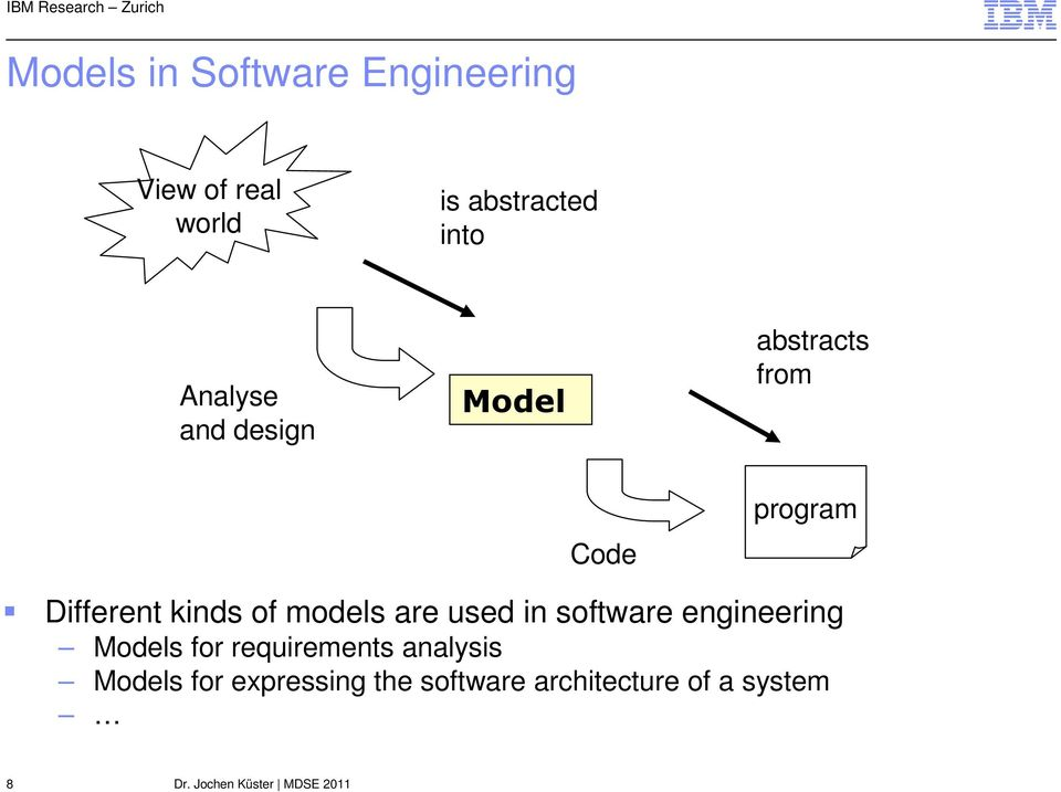 of models are used in software engineering Models for requirements