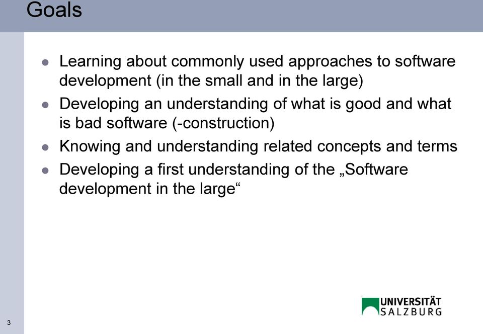 is bad software (-construction) Knowing and understanding related concepts and