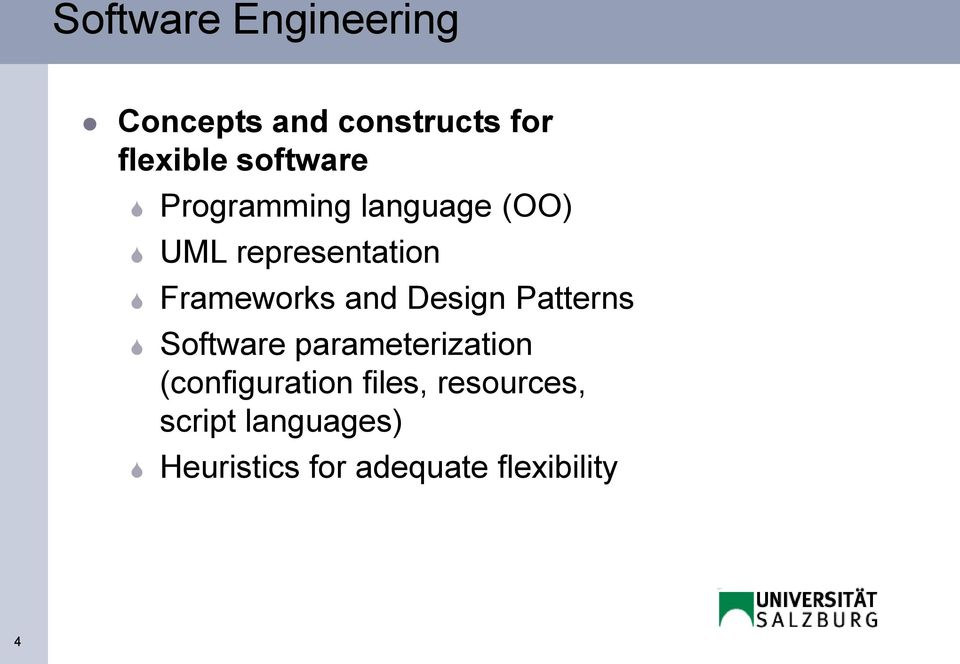 and Design Patterns Software parameterization (configuration