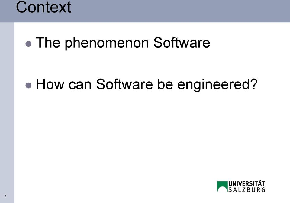 Software How can