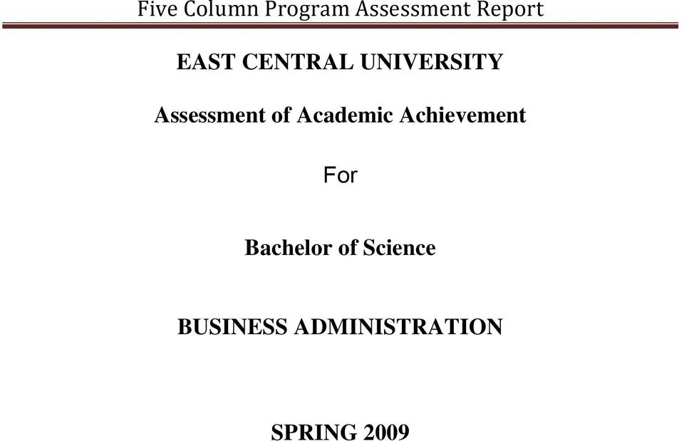 Academic Achievement For Bachelor of