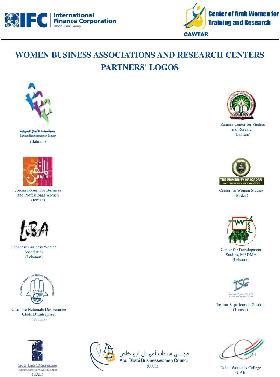 for Women Studies () Lebanese Business Women Association () Center for Development Studies, MADMA ()