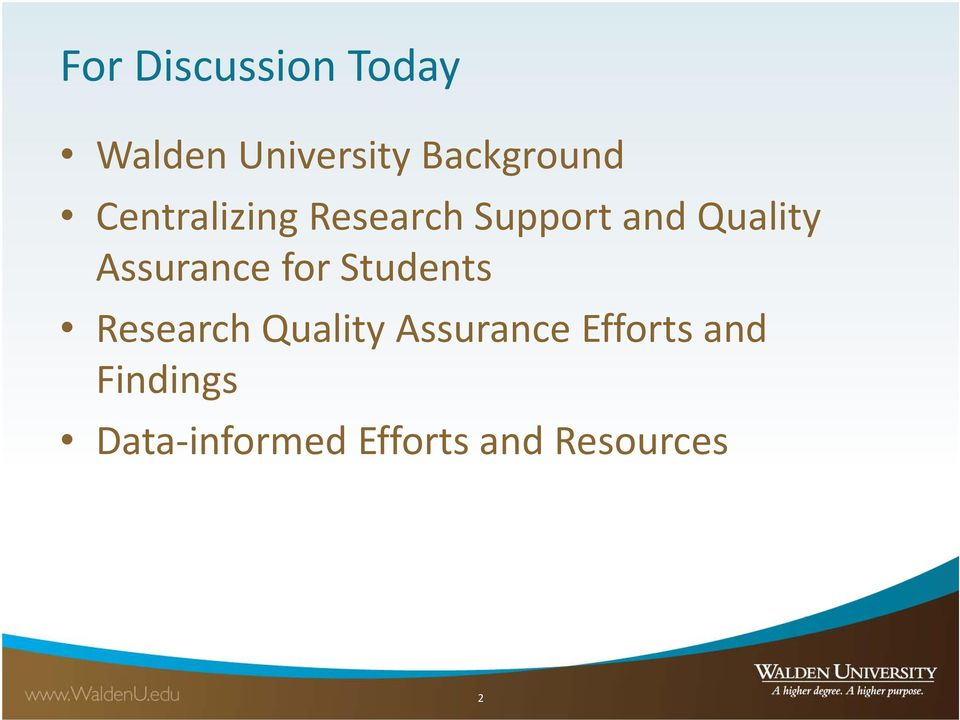 Assurance for Students Research Quality Assurance