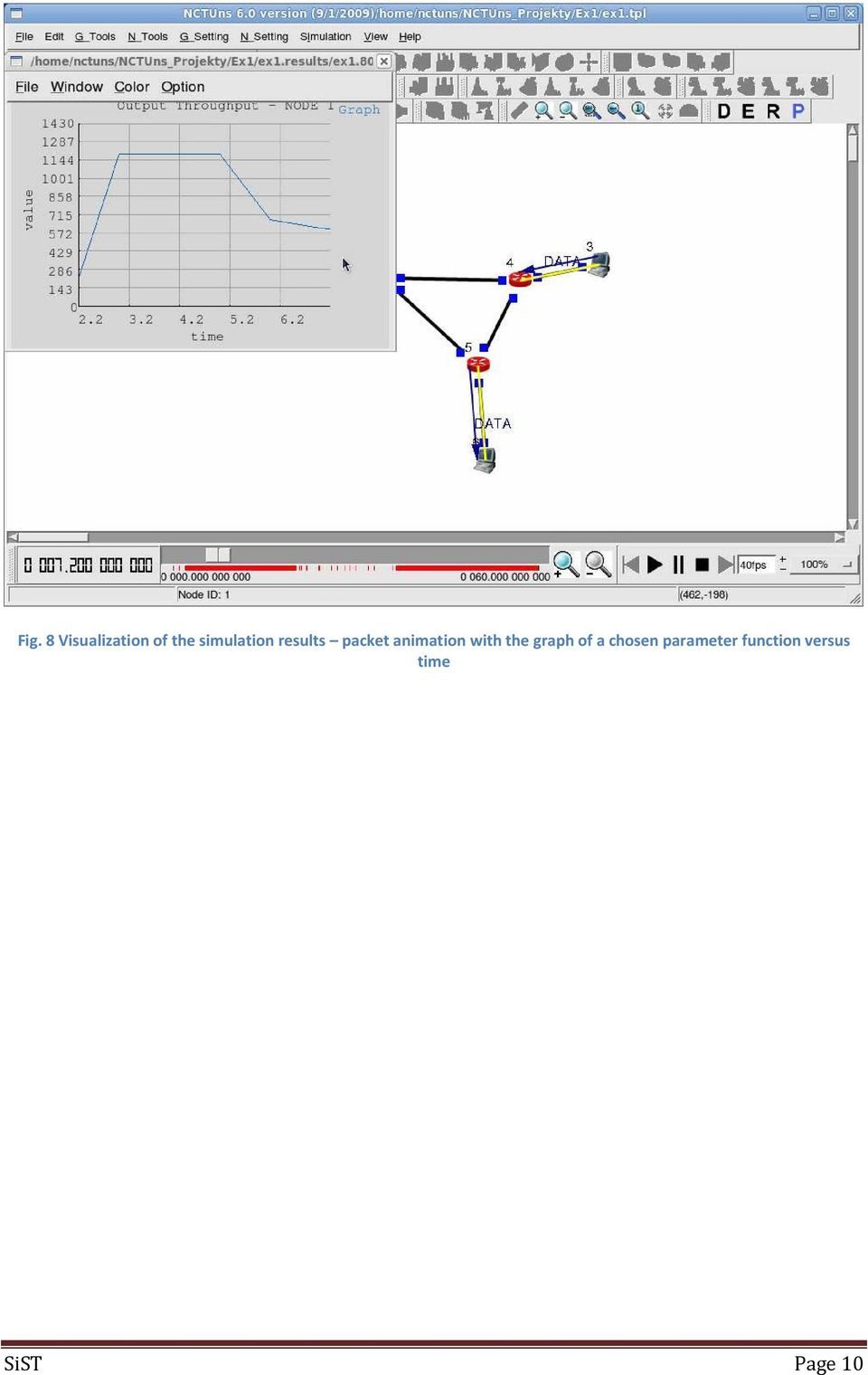 animation with the graph of a