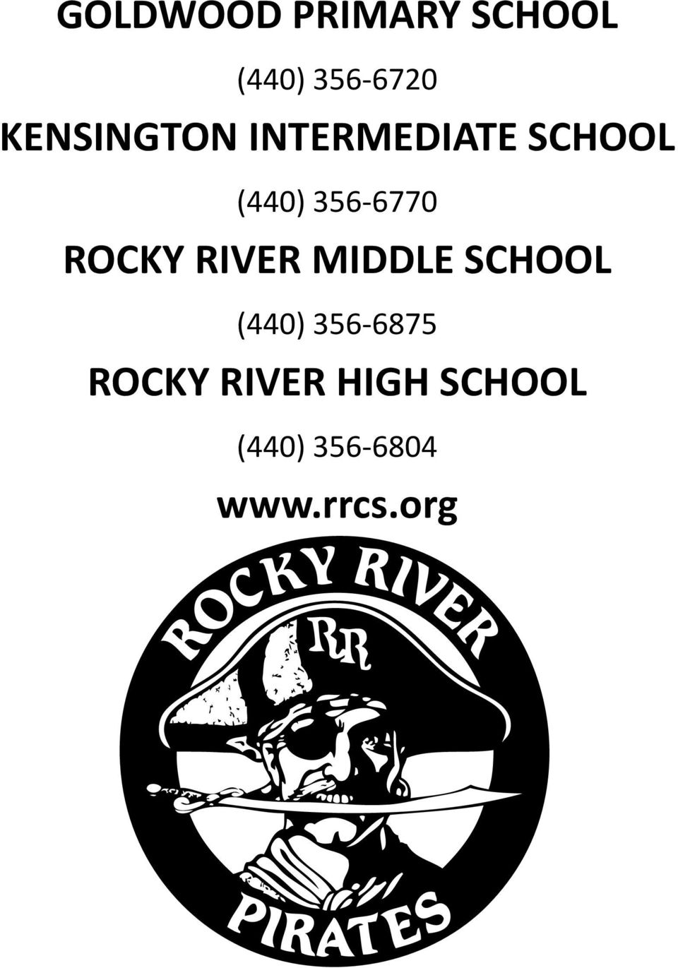 356-6770 ROCKY RIVER MIDDLE SCHOOL (440)