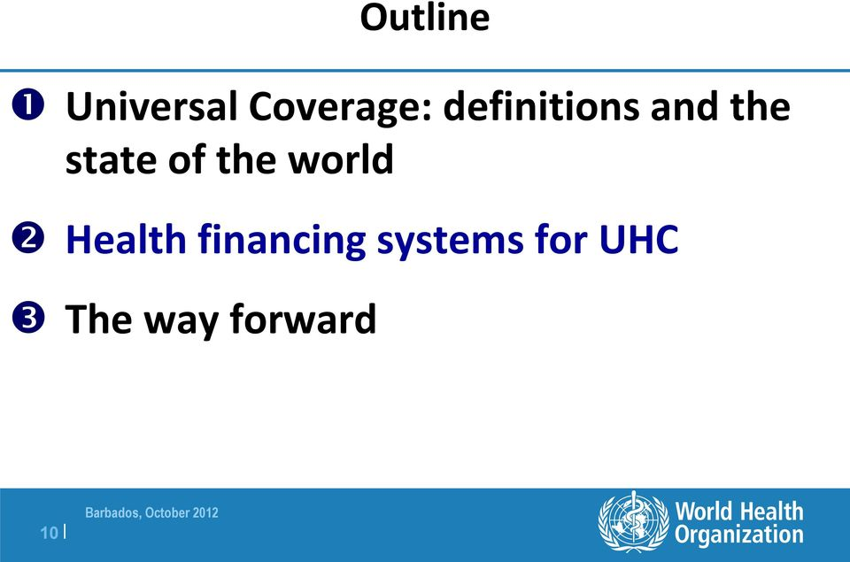 the world Health financing