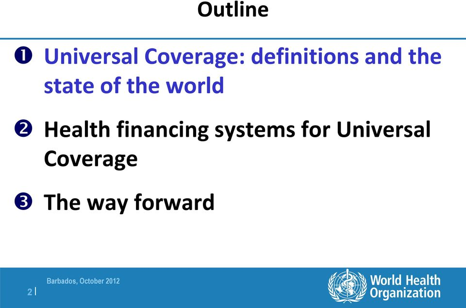 world Health financing systems
