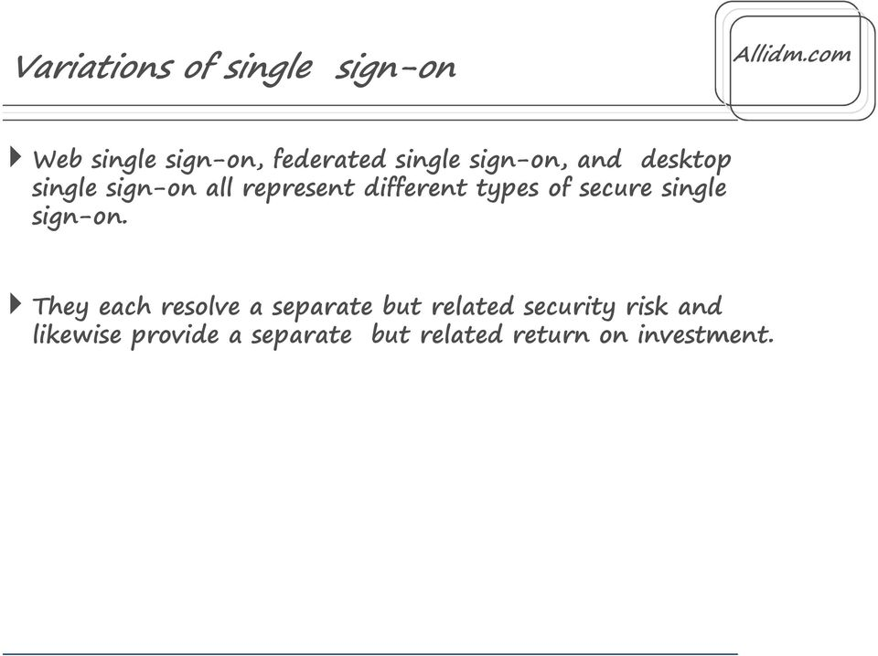 secure single sign-on.
