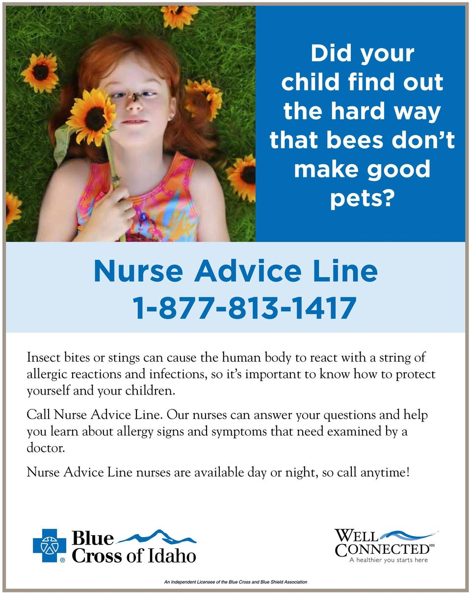 infections, so it s important to know how to protect yourself and your children. Call.