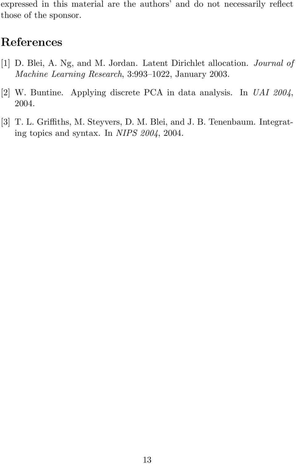 journal of machine learning research 3 993 1022 january 2003 2 w