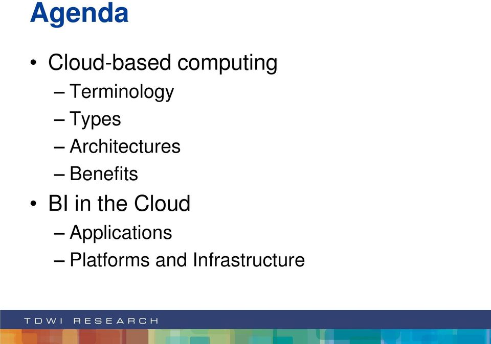 Benefits BI in the Cloud