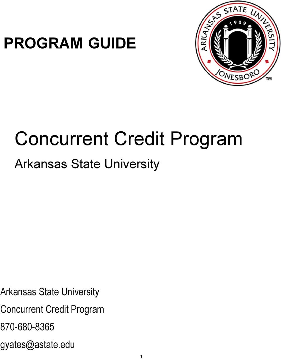 Arkansas State University Concurrent