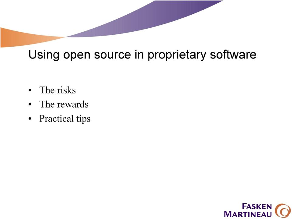 software The risks
