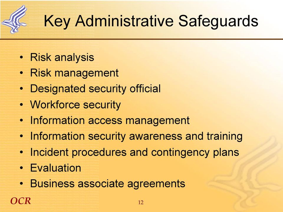 management Information security awareness and training Incident