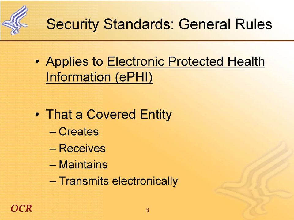 Information (ephi) That a Covered Entity