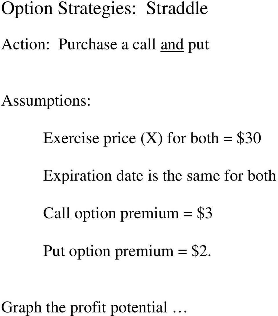 Expiration date is the same for both Call option