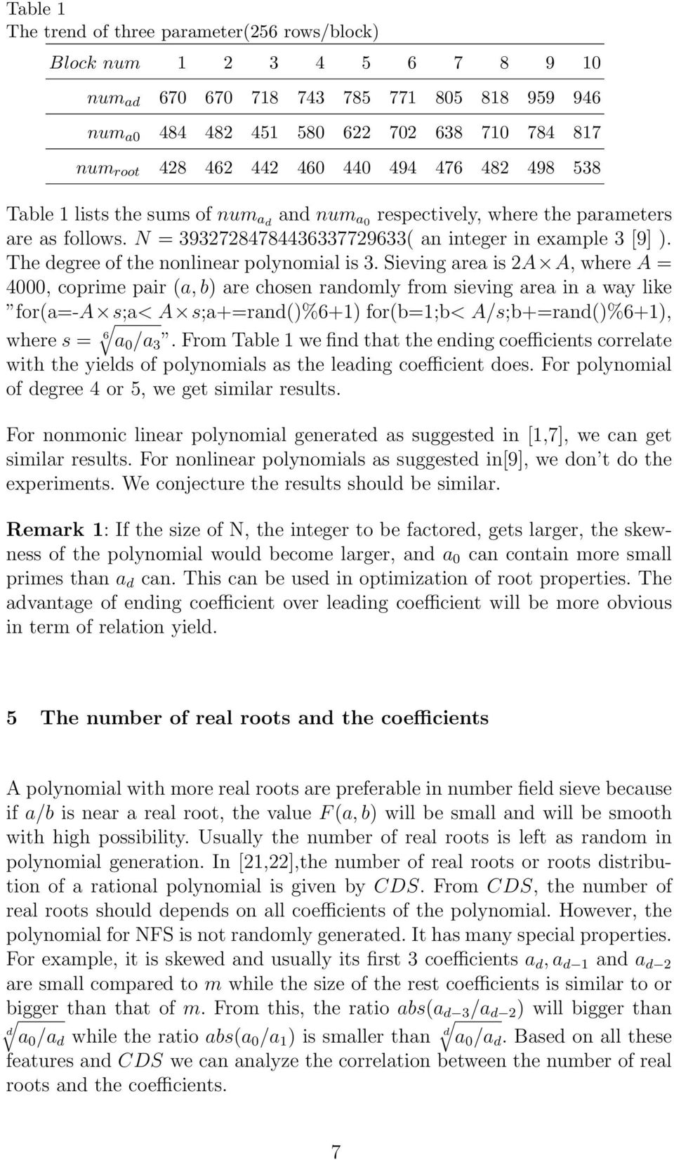 The degree of the nonlinear polynomial is 3.