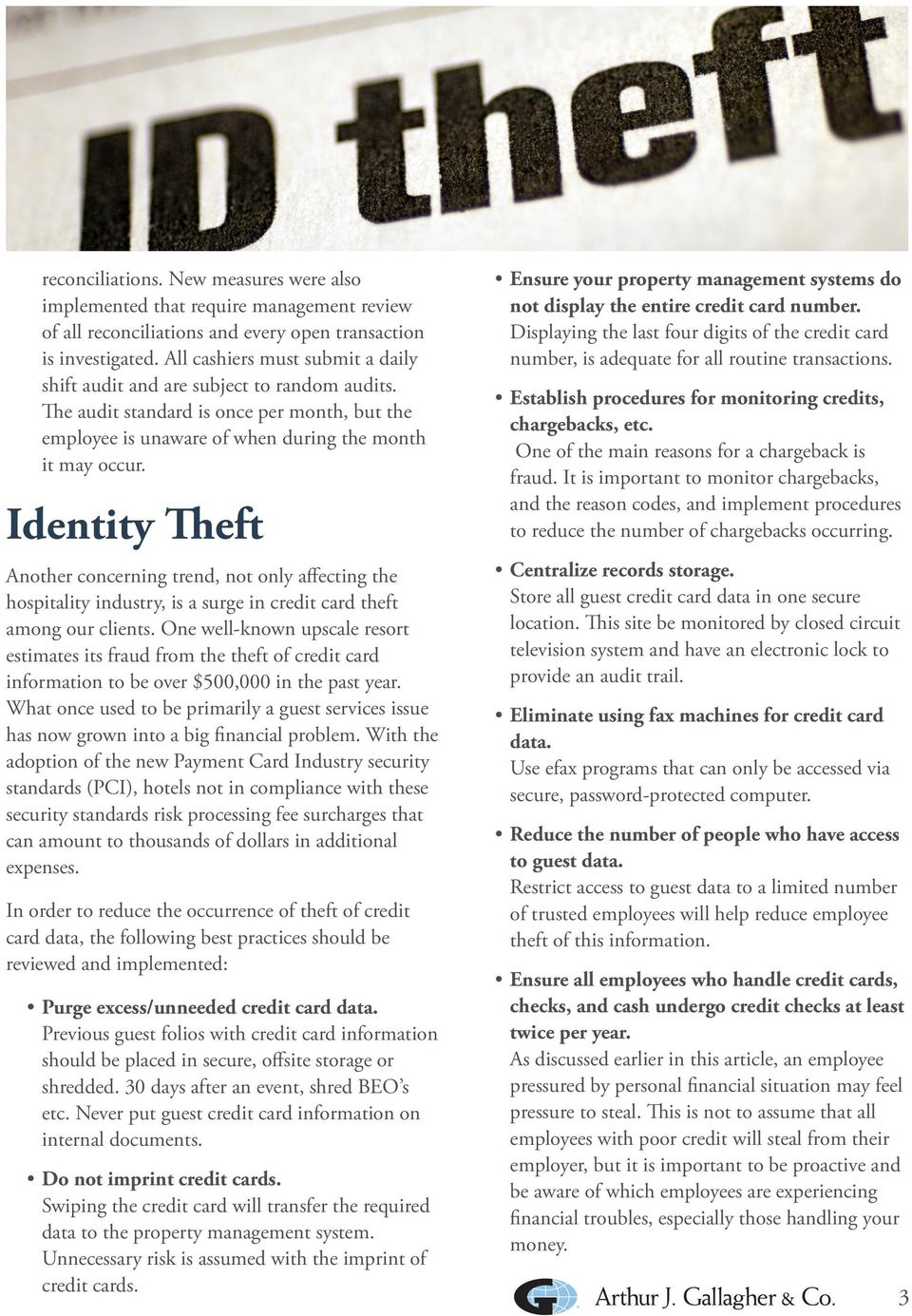Employee Theft, Fraud and How Hotels Can Manage the Risks  Gallagher