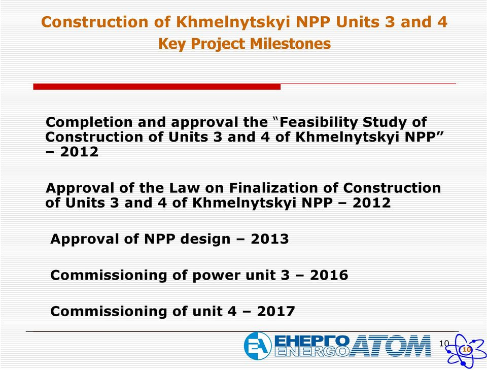 Approval of the Law on Finalization of Construction of Units 3 and 4 of Khmelnytskyi NPP