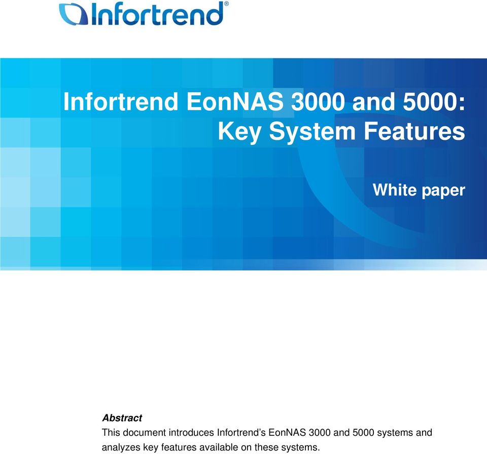 introduces Infortrend s EonNAS 3000 and 5000